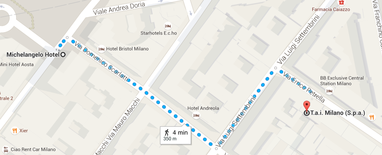 Michelangelo-TAI Milano walk