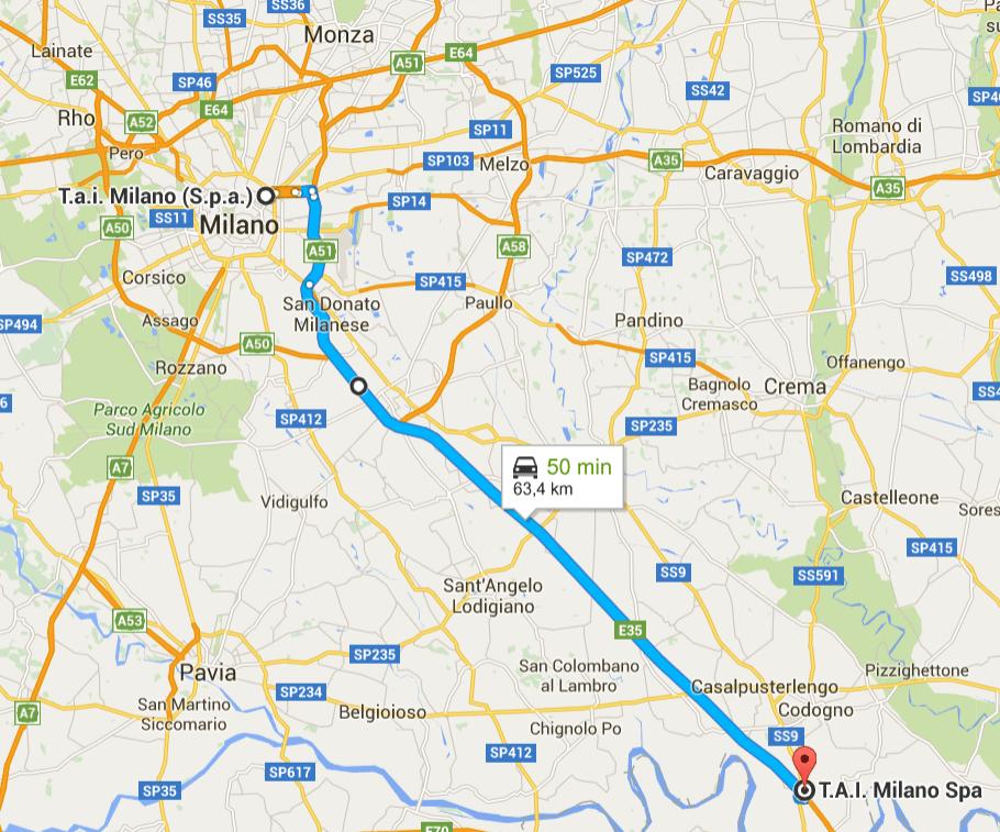 TAI Milano to Guardamiglio